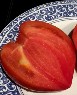 Tomate Coeur de Boeuf - Coupe longitudinale